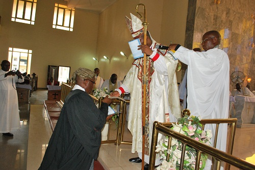 BISHOP OF MBAISE INDUCTS NEW LEGAL OFFICER