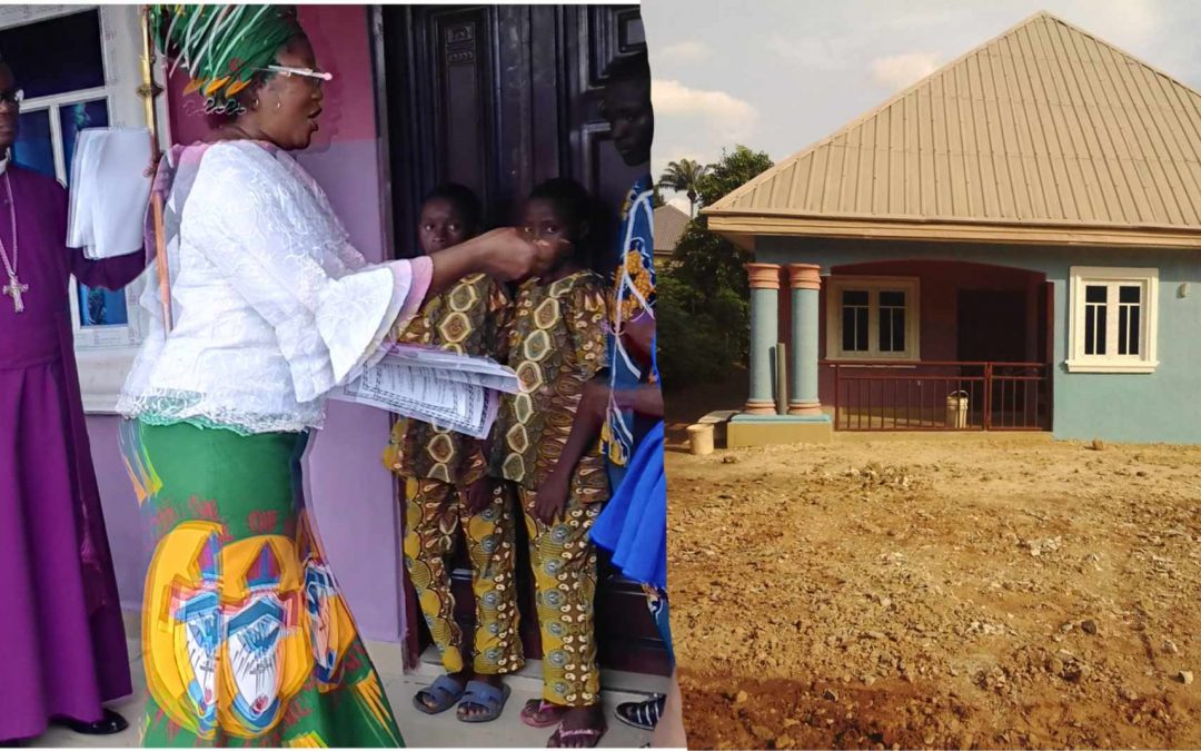 DEDICATION OF THE HOUSE BUILT BY THE AND DONATED TO MR & MRS MAXWELL NWACHUKWUGURU BY THE WOMEN MINISTRY